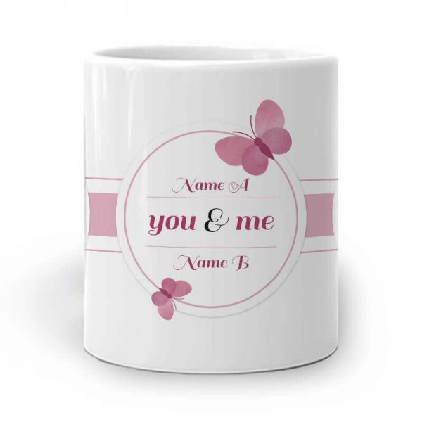 043. Butterfly Couple Mug – Middle