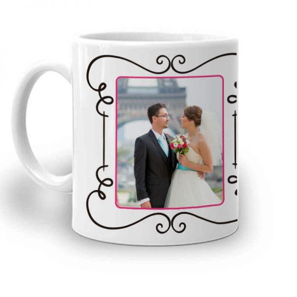 077. Romantic Mug With Image and Text -Left
