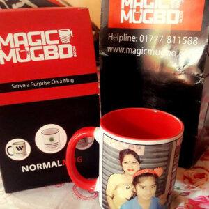 Inner Color Round Handle Mug