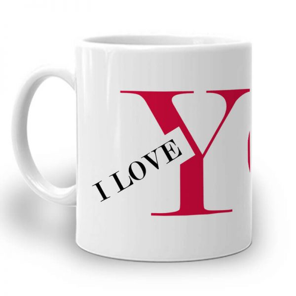 PC024. I Love You Mug Left