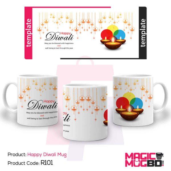 R101. Happy Diwali Mug