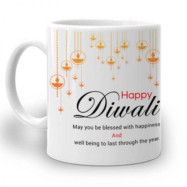 R101. Happy Diwali Mug Left