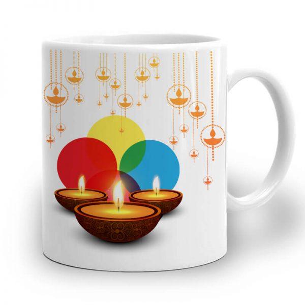 R101. Happy Diwali Mug Right