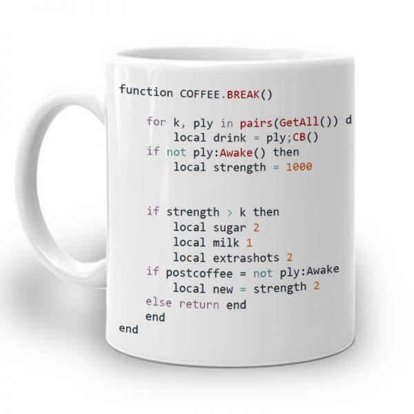 R107. Web Coding Mug Left
